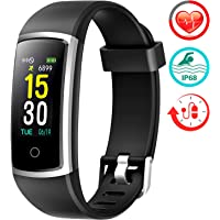 FITFORT Fitness Tracker with Blood Pressure HR Monitor - 2019 Upgraded Activity Tracker Watch with Heart Rate Color Monitor IP68 Pedometer Calorie Counter for Women Kids Men