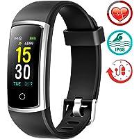 Fitfort Fitness Tracker con monitor de presión arterial HR – 2019 reloj de seguimiento de actividad actualizado con monitor de ritmo cardíaco color IP68 podómetro contador de calorías para mujeres niños y hombres