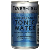 Fever-Tree Mediterranean Tonic Water, 3er Fridgepack, 24 (3x8) Dosen (24 x 150 ml)