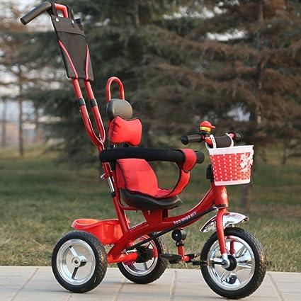 QXMEI Triciclo para Niños Multifunción 1-6 Bebé Bicicleta para Bebés Carrito para Bebés Bicicleta