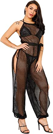 Sedrinuo Womens Summer Sexy Cover Ups for Swimwear Mesh Beach Bikni Swimsuit Cover Up