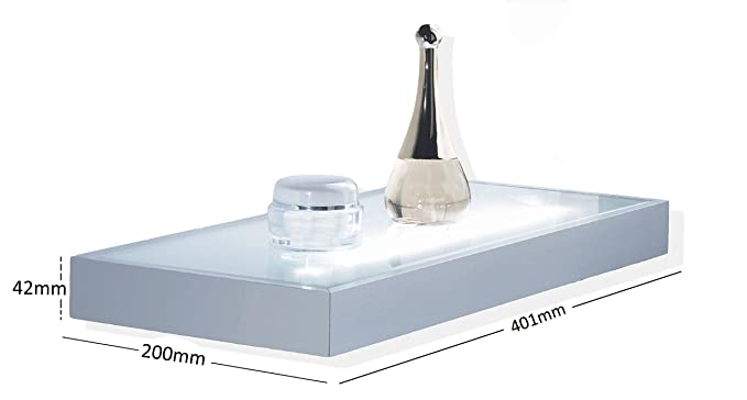 Mensole In Vetro Luminose.Mensola Luminosa Struttura In Alluminio Con Vetro Temperato