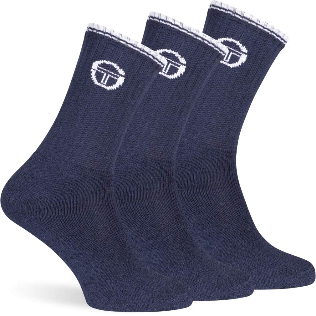 womens socks and mens socks made in Italy Sergio Tacchini 3 Pairs Tennis Socks ST777.E for Men and Women Size 35-49 different colours