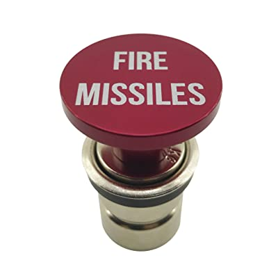 Fire Missiles Button Car Cigarette Lighter by Citadel Black - Anodized Aluminum, 12-Volt Replacement Accessory, Fits Most Vehicles, Socket Size A: Automotive