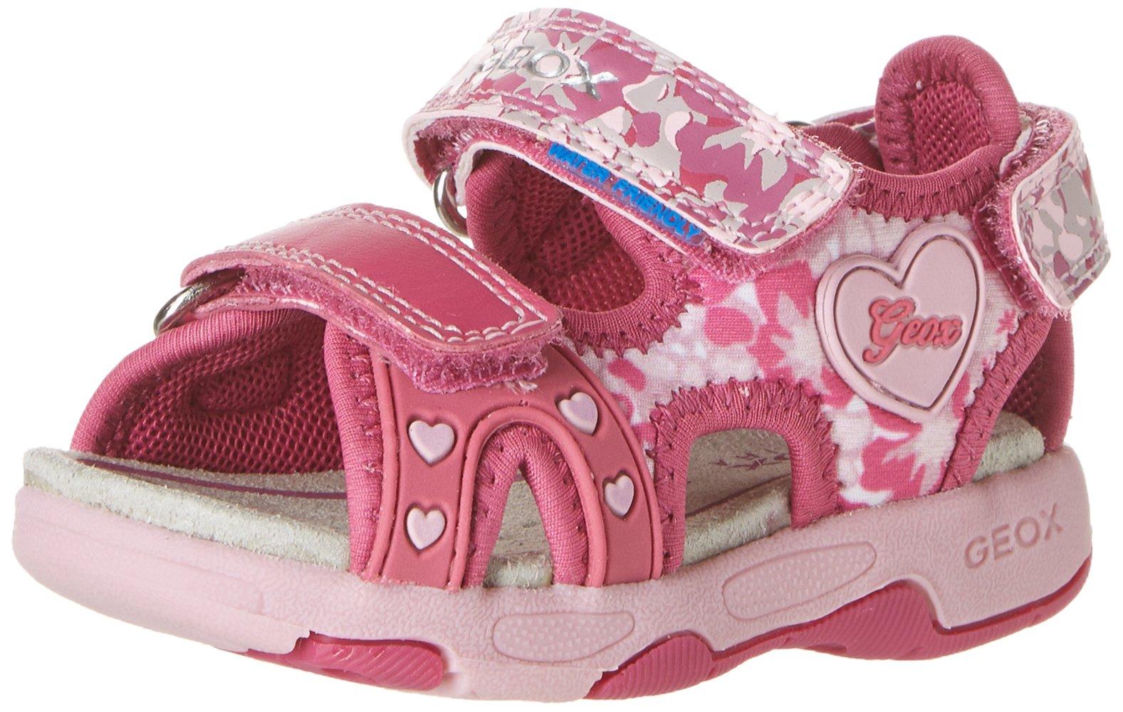 Geox B Sandal Multy Girl 2-K, Fuchsia/Pink, 22 EU(6.5 M US Toddler) by Geox