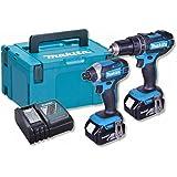 Makita DLX2131 Makita DLX2131 18V Li-ion LXT DHP482 Combi and DTD152 Impact KIT (2 X 3.0ah) 6 Blue