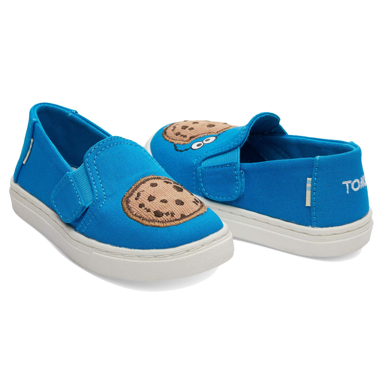 TOMS Sesame Street X Cookie Monster Applique Tiny Luca Slip-Ons 10013646 (Size: 9) Blue by TOMS (Image #2)