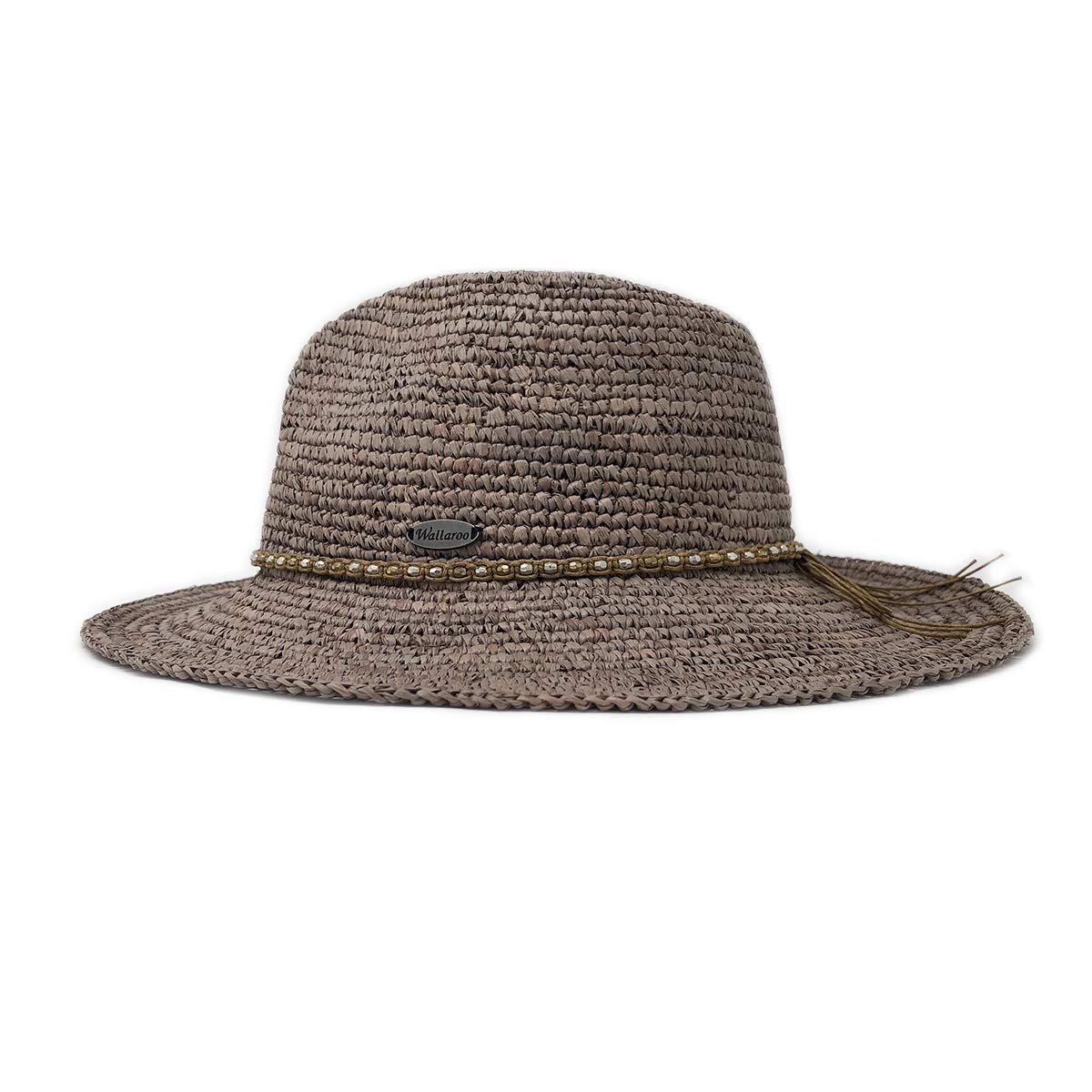 Wallaroo Hat Company Women's W Collection Malibu Fedora - Mushroom - Raffia by Wallaroo Hat Company (Image #2)
