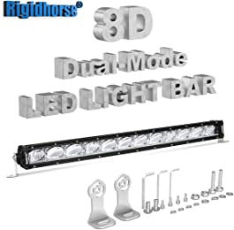 LED Light Bar Rigidhorse 29 Inch 172W 8D Dual-Model Light Bar DRL/Night Light Spot Light For SUV Truck ATV Pickup