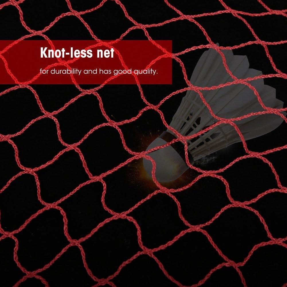 Dilwe Filet de Badminton r/églable Pliable 2 Couleurs pour Sports de Plein air