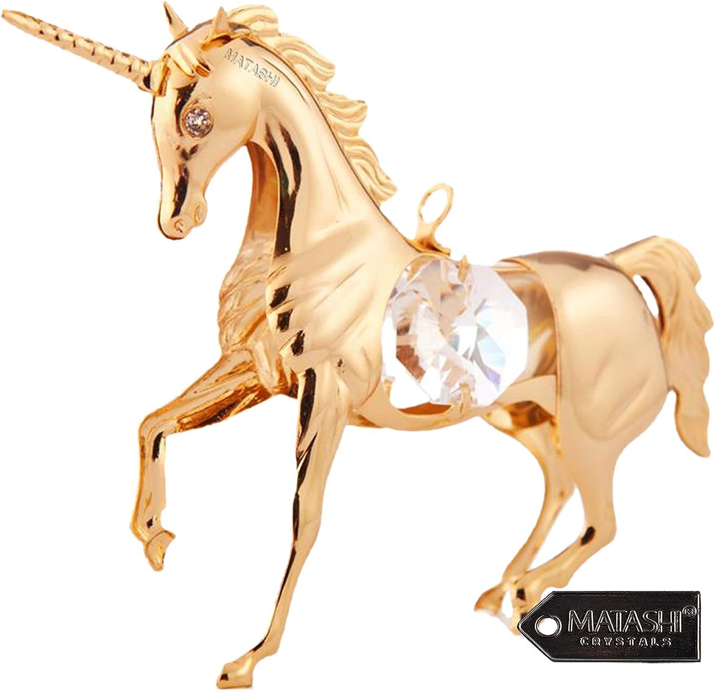 Matashi 24K Gold Plated and Crystal 3