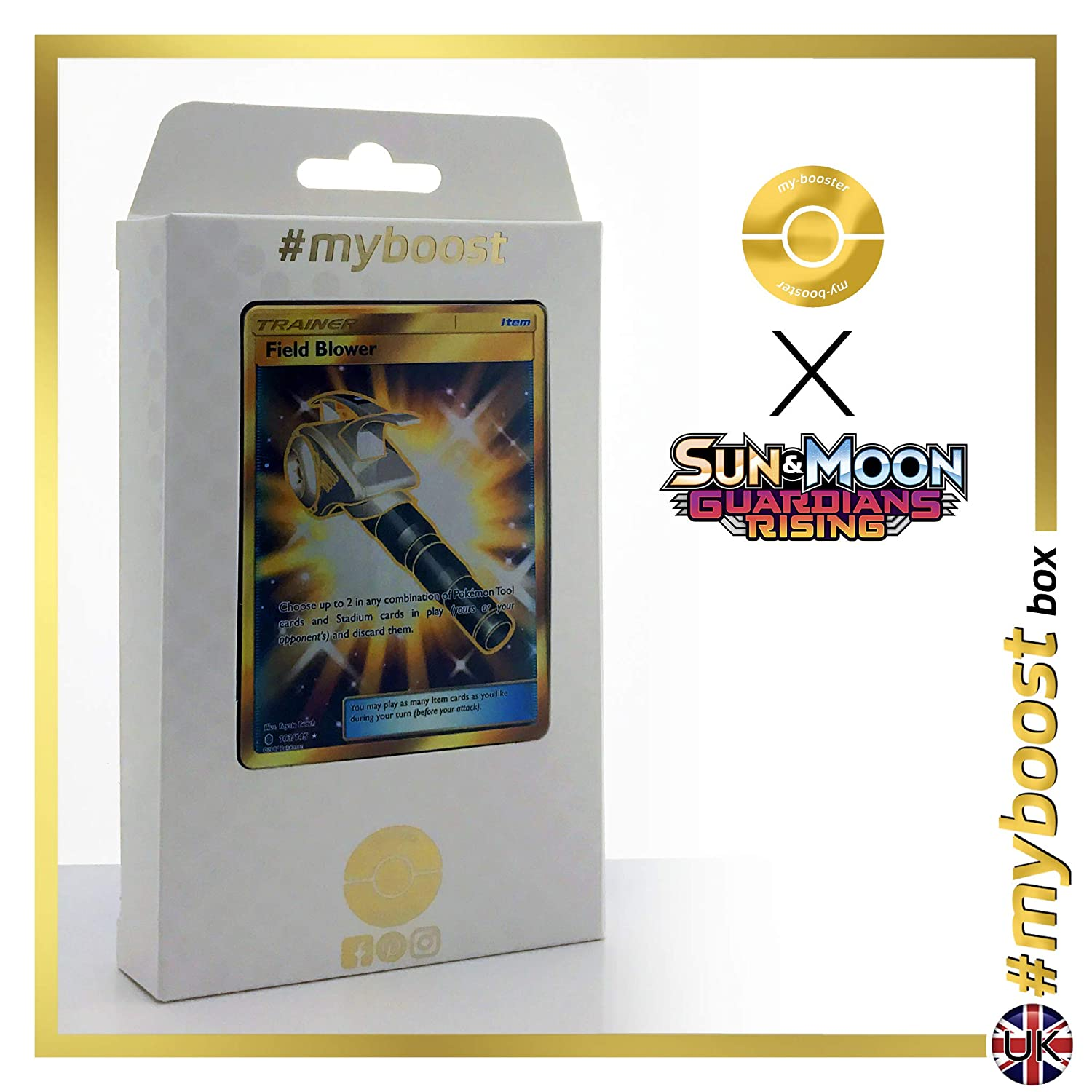 Box  myboost Trainer Field Blower Shiny 163 145 - Sun And Moon 2 - 10 English Pokemon Trading Cards