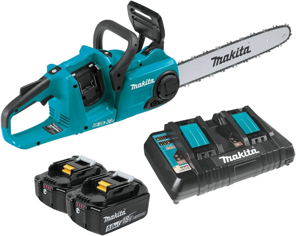 Makita XCU04PT LXT Lithium-Ion Brushless Cordless 16 Chain Saw Kit 5.0Ah