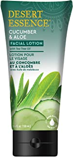 product image for Desert Essence Facial Lotion - Cucumber & Aloe w/Tea Tree Oil - 3.4 Fl Oz - Moisturizes, Protects & Softens Skin - Aloe - Cooling Cucumber - Brighten & Tone