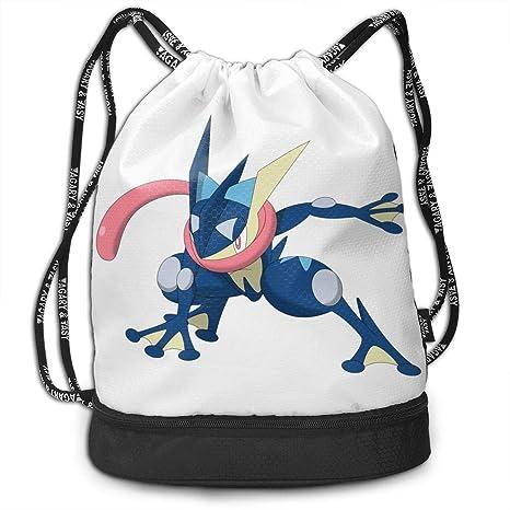 7326394f354c Amazon.com: Greninja Eevee Drawstring Backpack Rucksack Shoulder ...