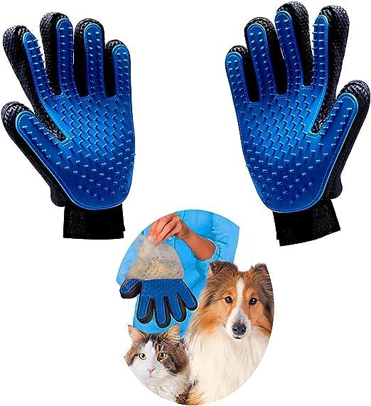 Haikingmoon Guantes para Mascotas - Guante Pelo Gato - Guante Pelo Perro - Perros/Gatos Retiro del Pelo Guantes Eficientes para la Eliminación de Pelo Suelto - Guantes Mascotas (2 Piezas): Amazon.es: Productos para mascotas