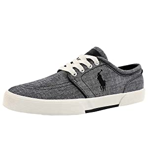 Polo by Ralph Lauren Men's Faxon Low Lace Up Fashion Sneaker Black 8 M US