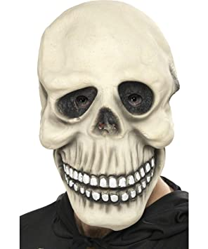 Smiffys - Máscara de esqueleto para adulto, ideal para Halloween