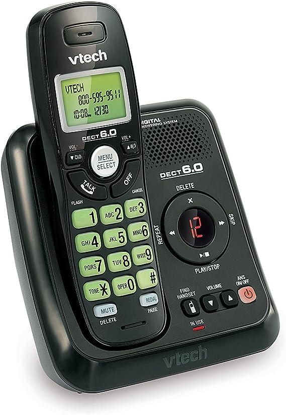 Vtech va17241bk DECT 6.0 Expandable teléfono inalámbrico con Sistema de Respuesta y identificador de Llamadas, 1 Terminal, Color Negro: Amazon.es: Electrónica