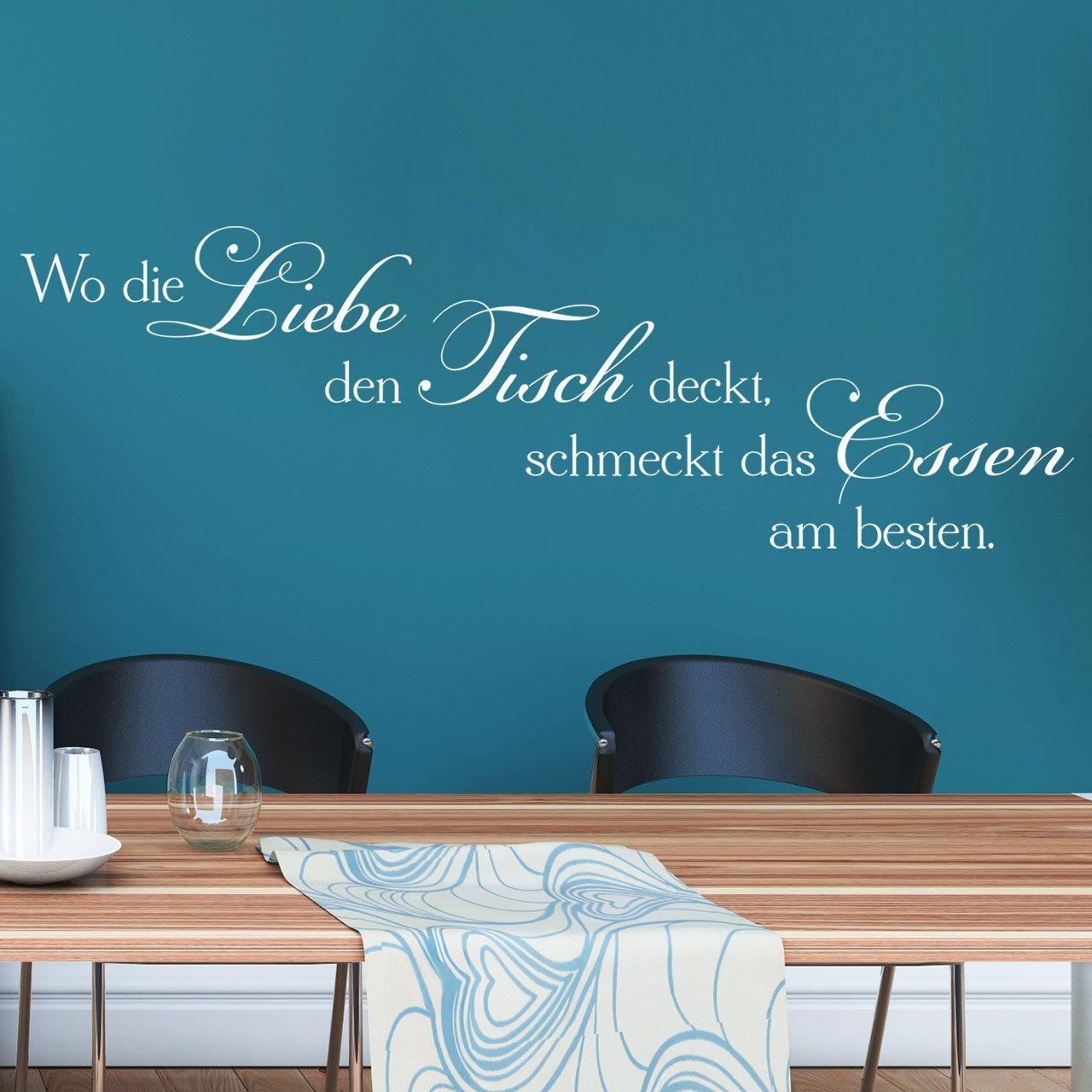 DESIGNSCAPE® Wandtattoo Wo die Liebe den Tisch Tisch Tisch deckt, schmeckt das Essen am Besteen 120 x 38 cm (Breite x Höhe) schwarz DW801238-L-F4 B01D8JQ5N0 Wandtattoos & Wandbilder 78d5f6
