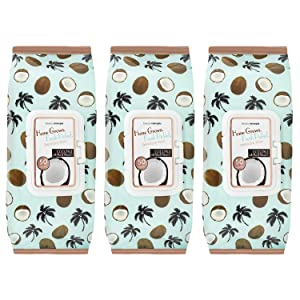 B.C. Beauty Concepts Makeup Remover Wipes Bulk Pack of 3, 150 Facial Cleaning Cloths Removes Makeup Mascara Dirt and Oil, Flip Top Pack (Coconut with Aloe & Vitamin C)