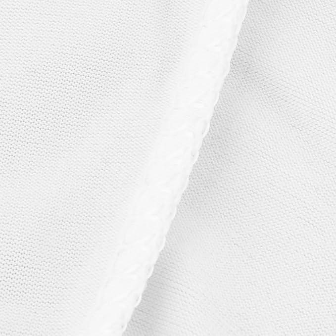 Amazon.com: eDealMax Cóctel en Forma de Poliéster boda Ronda Partido Tabla cubierta de Tela de la decoración DE 60 x 110 cm Blanca: Home & Kitchen