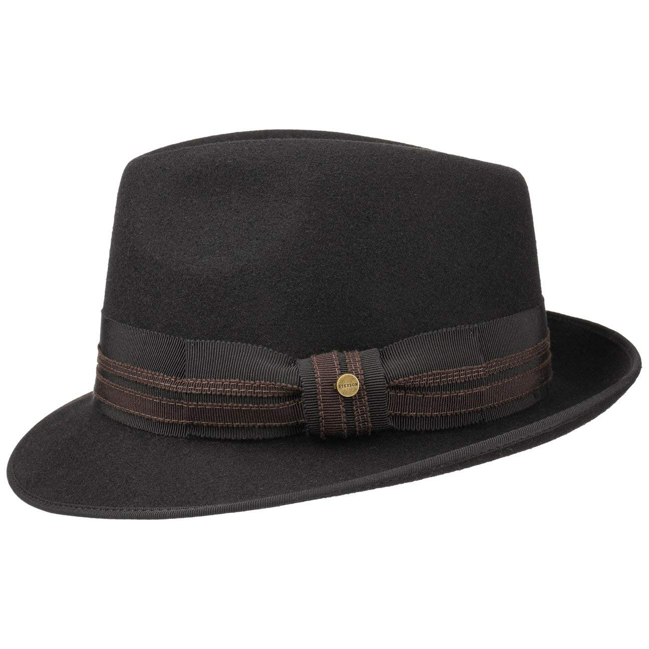 3ab743f7febf47 Stetson Pulasco Player Wool Felt Hat Men | at Amazon Men's Clothing store: