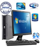 """Dell Optiplex 755 Full System - Ultra Small PC Computer and Power Supply + 17"""" Flat Screen monitor - Intel Dual Core – NEW 160GB Hard Drive - NEW 4GB RAM – FREE OPEN OFFICE - DVD –SUPER FAST DIGITAZZ WIFI Internet Ready –Free Keyboard ,MOUSE & EXTERNAL SPEAKERS With WINDOWS 7 Installation CD"""