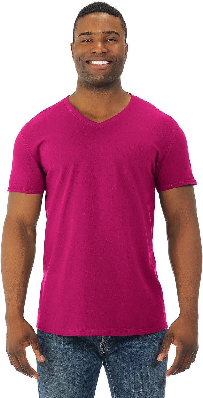 Fruit of the Loom Mens Jersey V-Neck T-Shirt (SFVR)