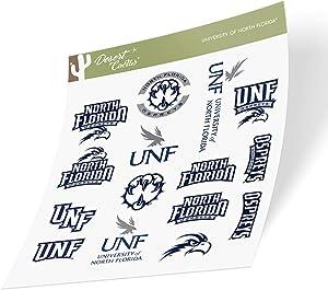 University of North Florida UNF Ospreys NCAA Sticker Vinyl Decal Laptop Water Bottle Car Scrapbook (Type 2 Sheet)
