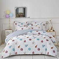 Uozzi Bedding Comforter Set, Reversible Down Alternative Comforter Microfiber Duvet Sets (1 Comforter + 2 Pillow Shams)