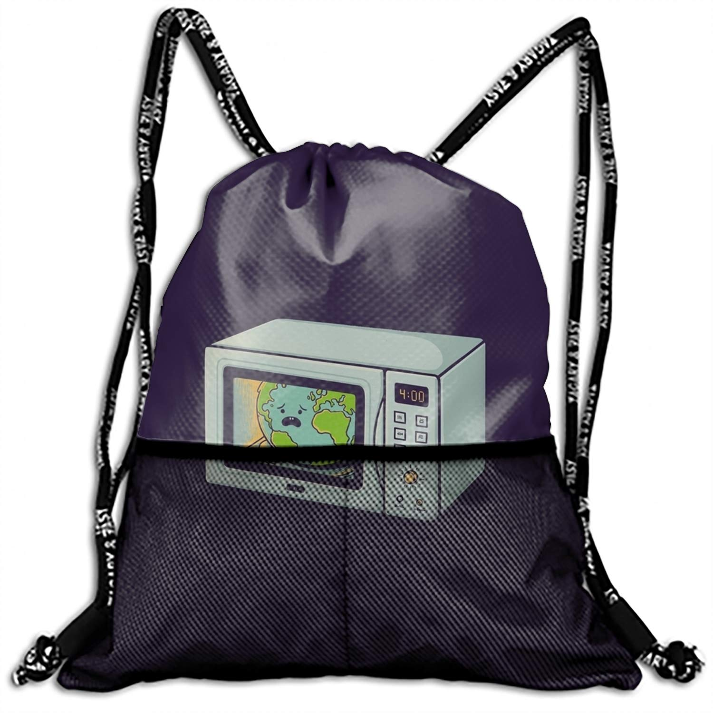 School Drawstring Book Bag Sport Gym Swim PE Dance Girls Boys Kids Backpack Fest