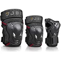 JBM BMX Bike Knee Pads and Elbow Pads with Wrist Guards Protective Gear Set for Biking, Riding, Cycling and Multi Sports…