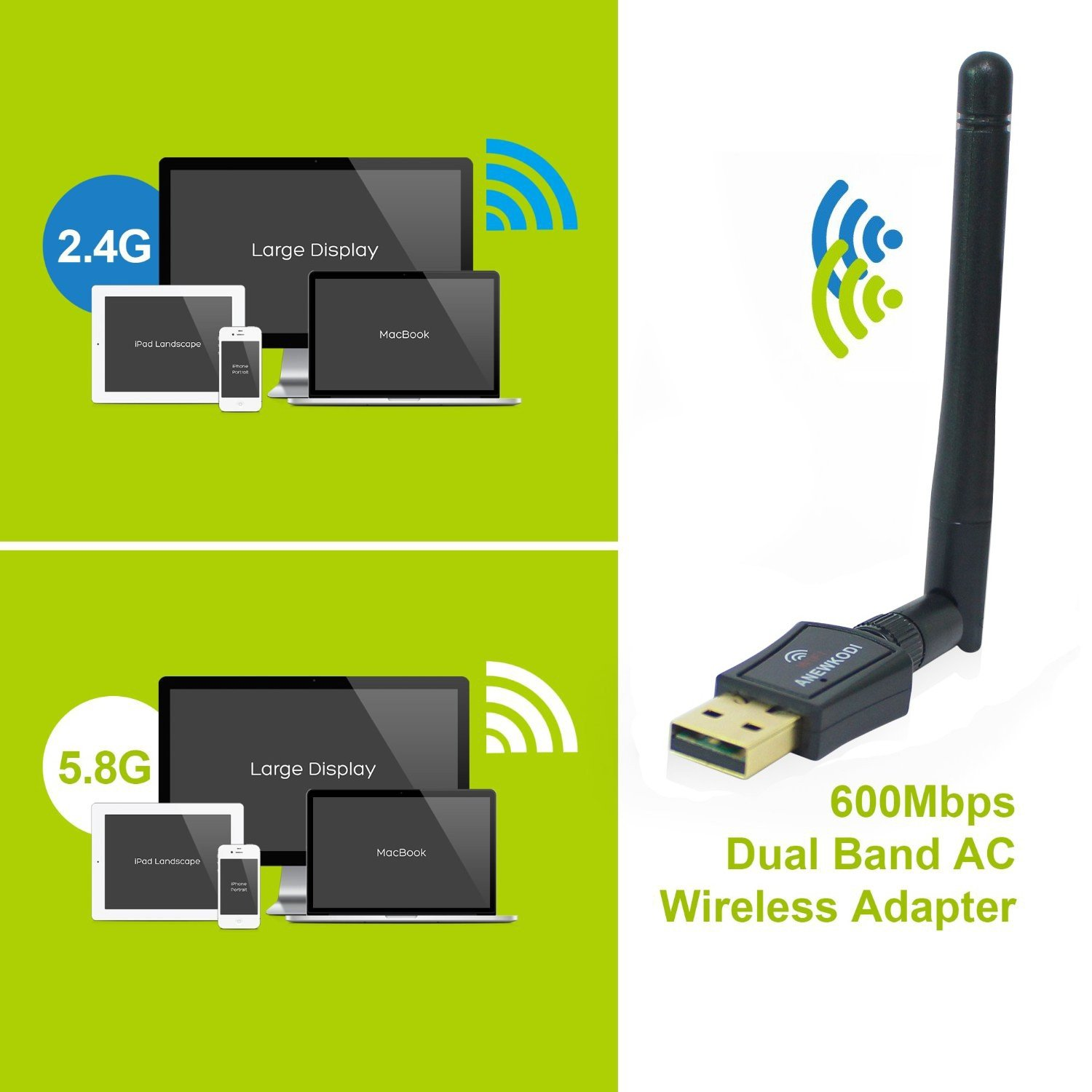 ANEWKODI AC600 Wireless Adapter
