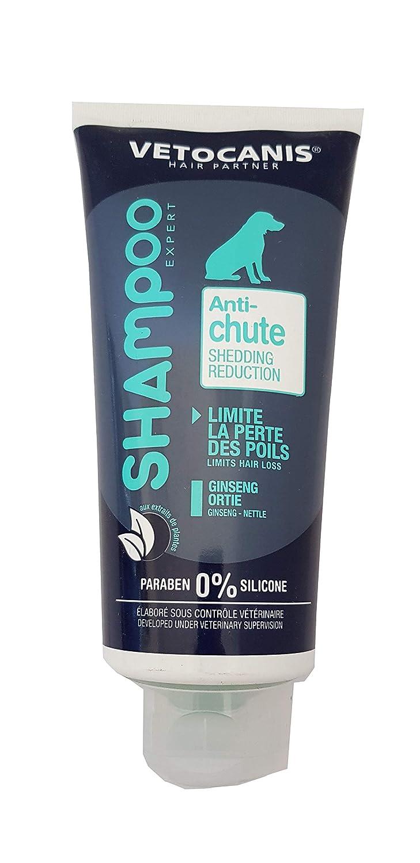 VETOCANIS Shampoing Anti-chute de Poils pour Chien 300ml, 0% de Paraben 0% de Silicone Agrobiothers BIO000481