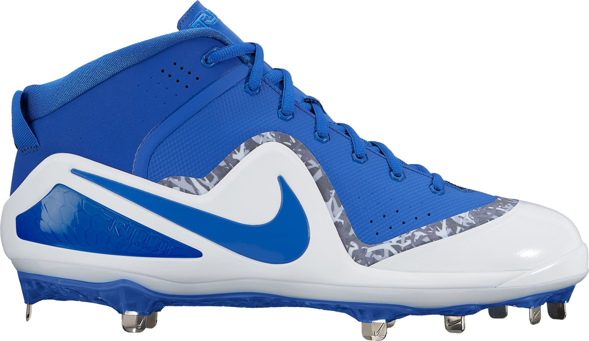 big sale abb53 1af5b Nike Men s Force Zoom Trout 4 Mid Metal Baseball Cleats (13, Blue White