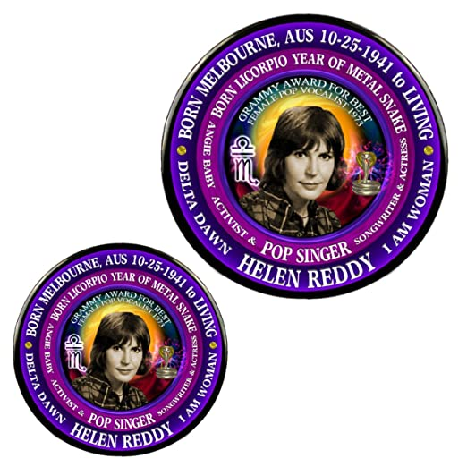 Amazon com: Helen Reddy 70's Singer Magnet + Pin, Astrology Libra