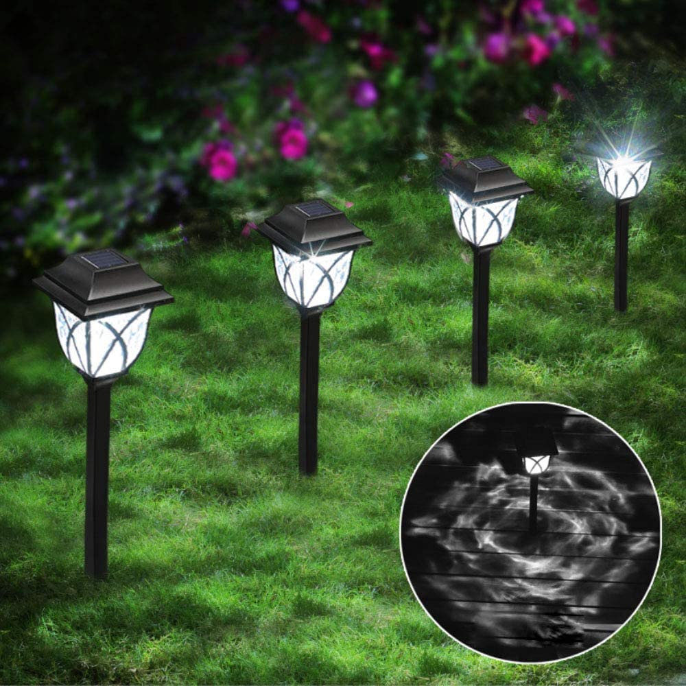 LANSGARINE Solar Pathway Lights Outdoor ,8 Pack Solar Powered Garden Light Waterproof, High Lumens LED Solar Patio Lighting for Landscape,Path,Yard,Walkway, Driveway,Lawn(Cold White)