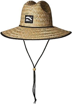 b84be262804 Amazon.com  Brooklyn Surf Men s Straw Sun Lifeguard Beach Hat Raffia ...