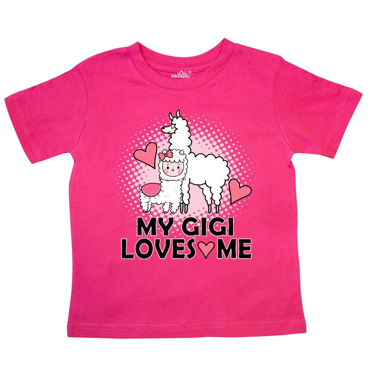 inktastic My Gigi Loves Me Llama Toddler T-Shirt