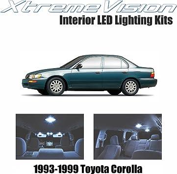 6 Pcs White LED Lights Interior Package Kit for Toyota Corolla 2003-2014