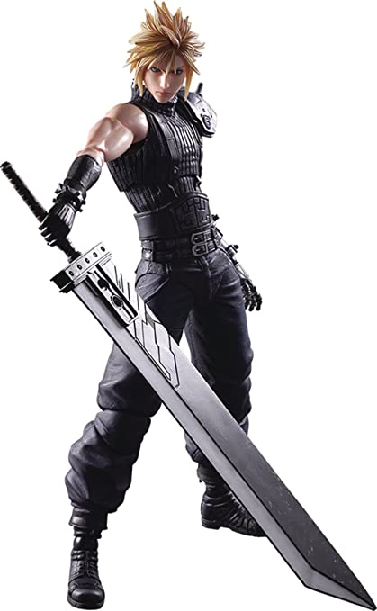 Superb Square Enix Final Fantasy VII Cloud Strife (Remake Version) Play Arts Kai  Action Figure