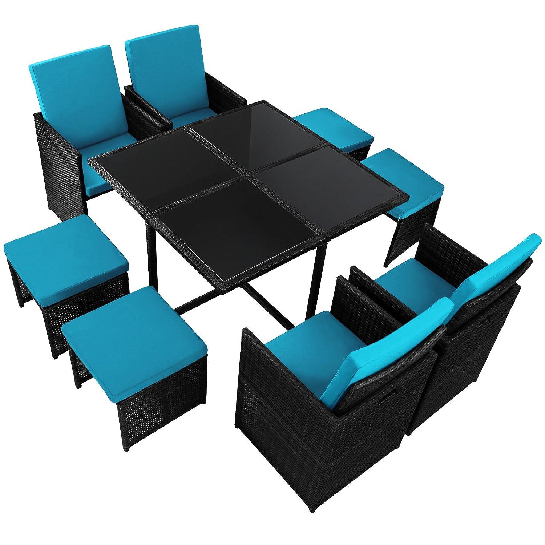 17 Teilige Luxus Rattan Sitzgruppe BELLINI Mit 4 Stühlen