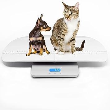 Escala digital multifuncional para mascotas para medir con precisión el peso de perros y gatos,