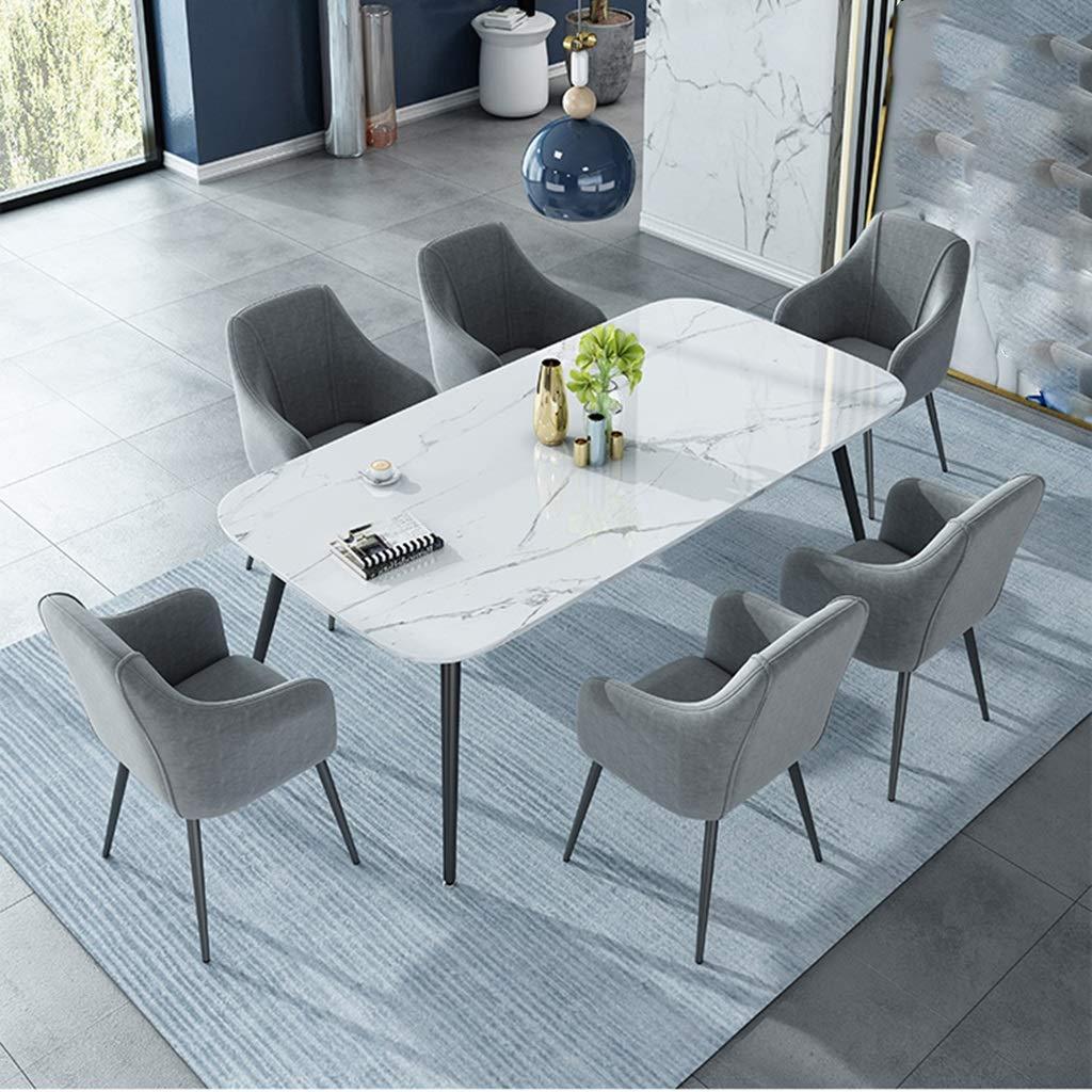 HEJINXL matsalsstol guldstoppad sits för bänk vardagsrum fåtöljer ryggstöd metallben mottagningsstol (färg: B) D