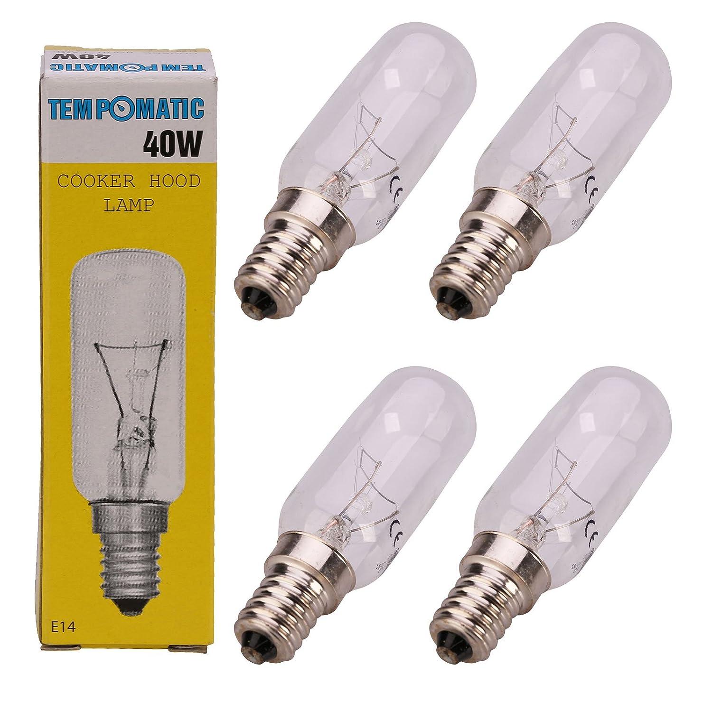 Qualtex E14 40W SES Cooker Hood Light Lamp Bulb Tubular Shape Bulb (2 Pack)