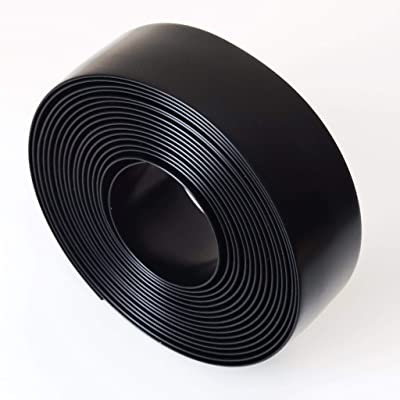 "KOMORAX Black 1.5"" Wide 20' Length Chair Vinyl Strap Strapping for Patio Lawn Garden Outdoor Furniture Matte Finish Color : Garden & Outdoor"