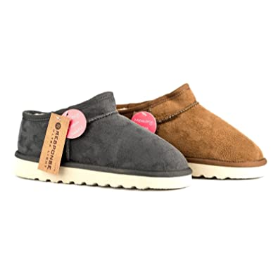 Hombre Talla 6 -12 Jo MOCCASIN SLIPPERS Synthetic Suede Jo -12 & Joe Marrón Navy Gris NEW ea611e
