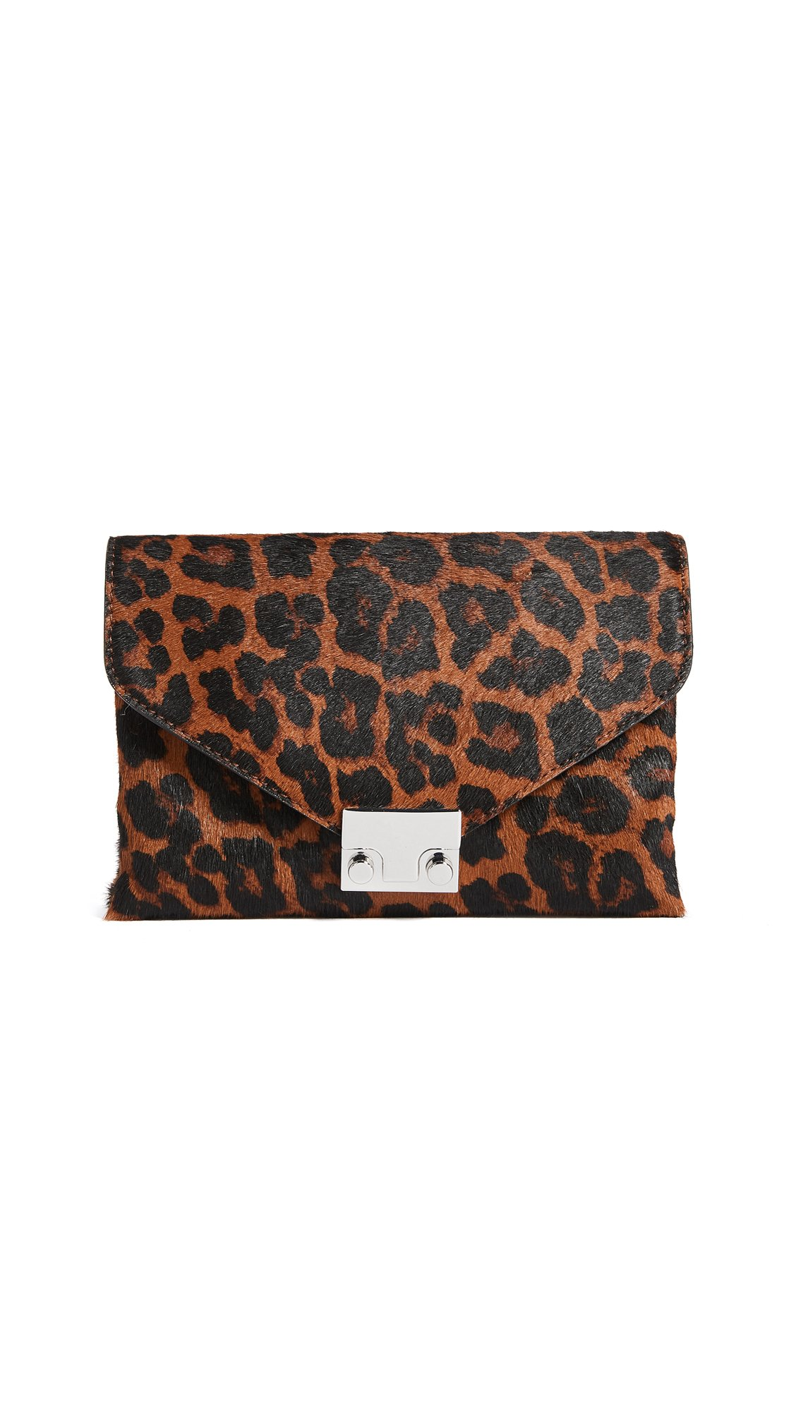 Loeffler Randall Women's Jr Lock Clutch, Leopard, One Size