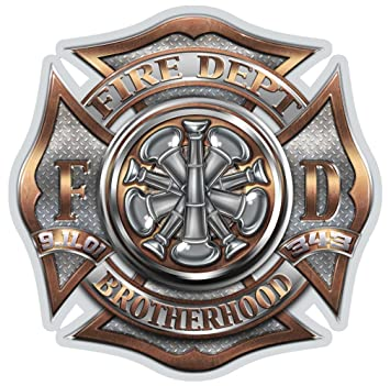 Amazon com: Collectible Firefighter Decals (6in,6pack
